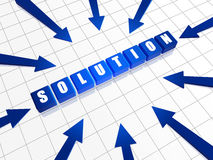 Solution and arrows Stock Images