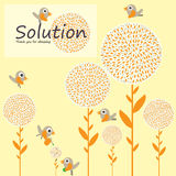 Solution bird plant concept Royalty Free Stock Images