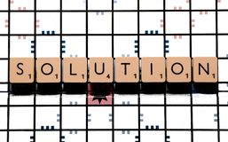 Solution board-game Stock Image