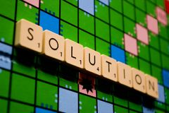 Solution board-game Stock Photos