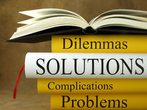 Solutions - Books Royalty Free Stock Image