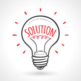 Solution Bulb Hand Drawn Idea Concept Stock Photo