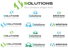 Solution business logo Stock Photography
