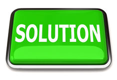 Solution button Royalty Free Stock Photo