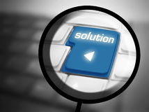 Solution button on keyboard Royalty Free Stock Image