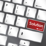 Solution button on keyboard of laptop  Royalty Free Stock Image