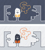 Solution colored cartoon Royalty Free Stock Images