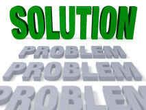 The Solution Comes into Focus Royalty Free Stock Images