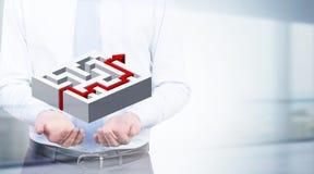 Solution concept abstract maze Royalty Free Stock Photos
