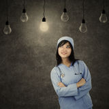 Solution concept with female surgeon Royalty Free Stock Photos