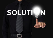 Solution concept. Idea or innovation change problem to solution concept Royalty Free Stock Photo