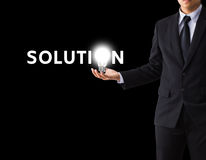 Solution concept. Idea or innovation change problem to solution concept Stock Images
