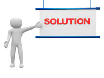 Solution concept.Isolated on white background Stock Photos