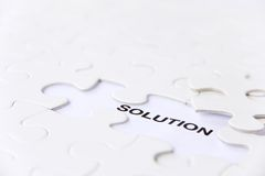 Solution concept. Missing puzzle piece, solution concept Royalty Free Stock Image