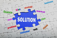 Solution concept Royalty Free Stock Images
