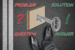 Solution concept on a road Royalty Free Stock Image