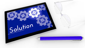 Solution concept on tablet Stock Photo