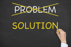 Solution Concepts and Problem on Blackboard Stock Images