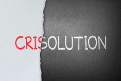 Solution for crisis. Tear crisis paper out of solution stock illustration