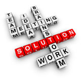 Solution crossword. Teamwork solution  (from crossword series Royalty Free Stock Photos