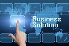 Solution d'affaires Image stock