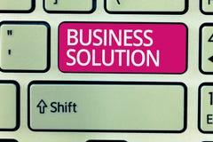 Solution d'affaires d'apparence de note d'écriture Services de présentation de photo d'affaires qui incluent la planification str photographie stock