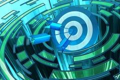 Solution d'affaires et concept stratégiques de but de stratégie marketing Image libre de droits