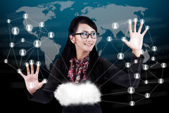 Solution d'affaires globales Image stock