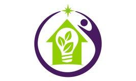 Solution d'ampoule de maison d'Eco Images stock