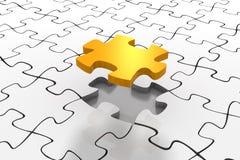 solution d'or de puzzle illustration libre de droits