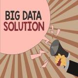 Solution de données des textes d'écriture de Word grande Concept d'affaires pour extraire la valeur à partir des volumes énormes  illustration stock