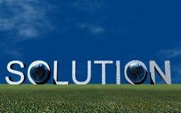 Solution de logo Photo libre de droits