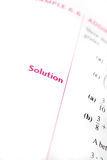 Solution de maths Images libres de droits