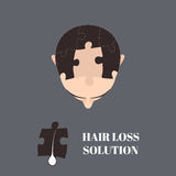 Solution de perte des cheveux illustration libre de droits