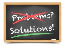 Solution de problèmes de tableau noir Images stock