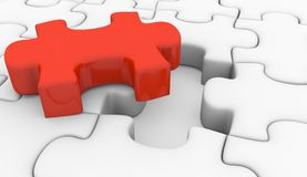 Solution de puzzle Photos stock