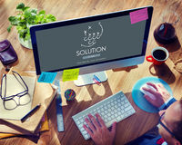 Solution Decision Information Problem Strategy Concept Stock Photo