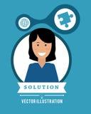 Solution design. Solution digital design, vector illustration 10 eps graphic stock illustration