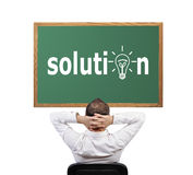 Solution on desk Royalty Free Stock Photo