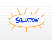 Solution destinations diagram illustration design. Over a white background Stock Images