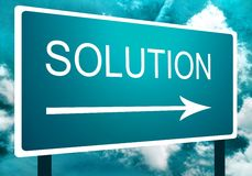 Solution direction road street sign Stock Photos