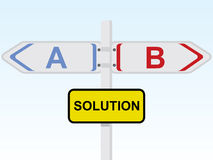 Solution direction sign Stock Image