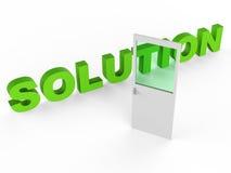 Solution Door Represents Resolution Doorframe And Achievement Stock Photography