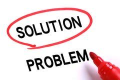 Solution du concept 3d d'affaires de problem Images libres de droits
