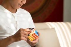 Solution du cube principal Images stock
