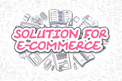 Solution For E-Commerce - Business Concept. Royalty Free Stock Photography