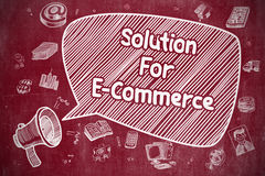 Solution For E-Commerce - Business Concept. Royalty Free Stock Image