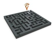 A solution that exists on the other side of troublesome puzzle solving. Stock Image