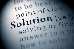 Solution. Fake Dictionary, Dictionary definition of the word Solution Stock Photography