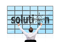 Solution on flat panels Royalty Free Stock Photography